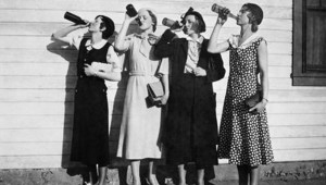 ladies drinking wine
